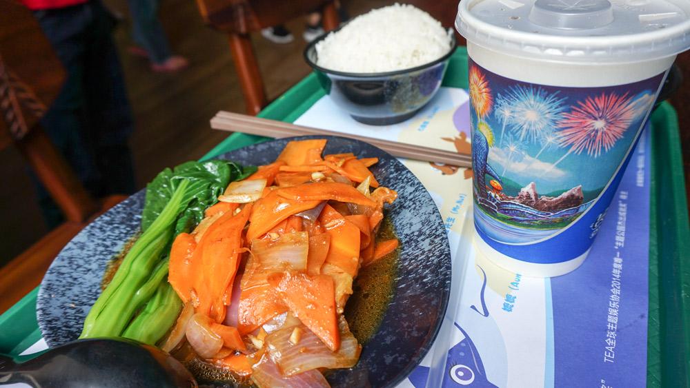 吞下一大碗白米饭图片